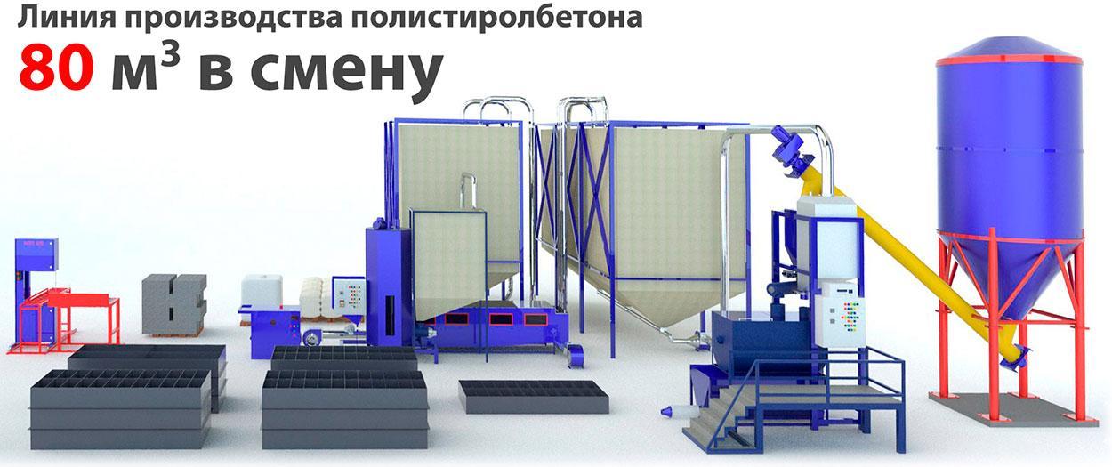 Линия производства полистиролбетона