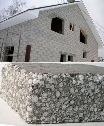 Теплоэффективность домов из полистиролбетонного блока