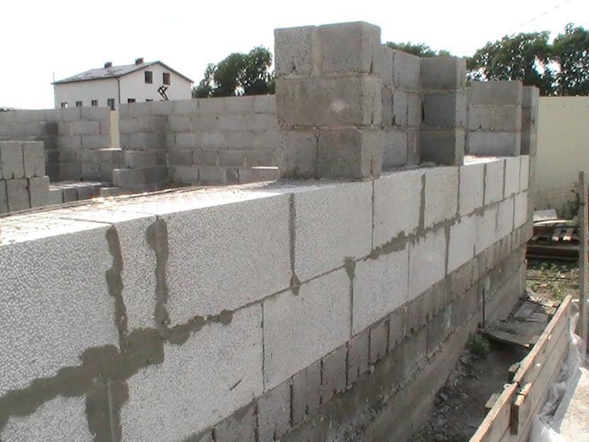 стоительство дома из полистиролбетонных блоков