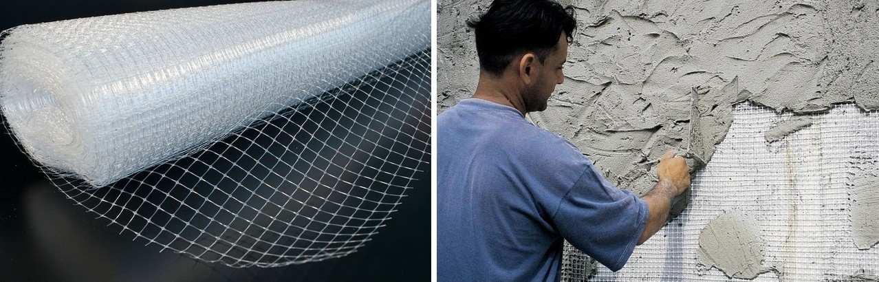 штукатурка полистиролбетонных блоков по сетке