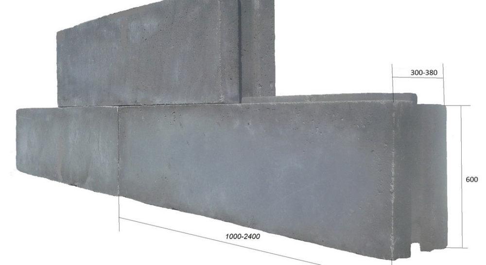 полистиролбетонный мегаблок пазогребневый